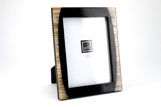 black & bamboo photo frame