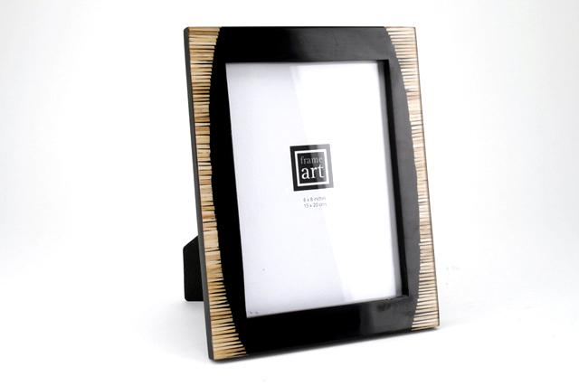 black & bamboo photo frame