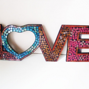 "mosaic ""Love"" sign"