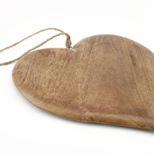 Wooden heart hanging chopping board