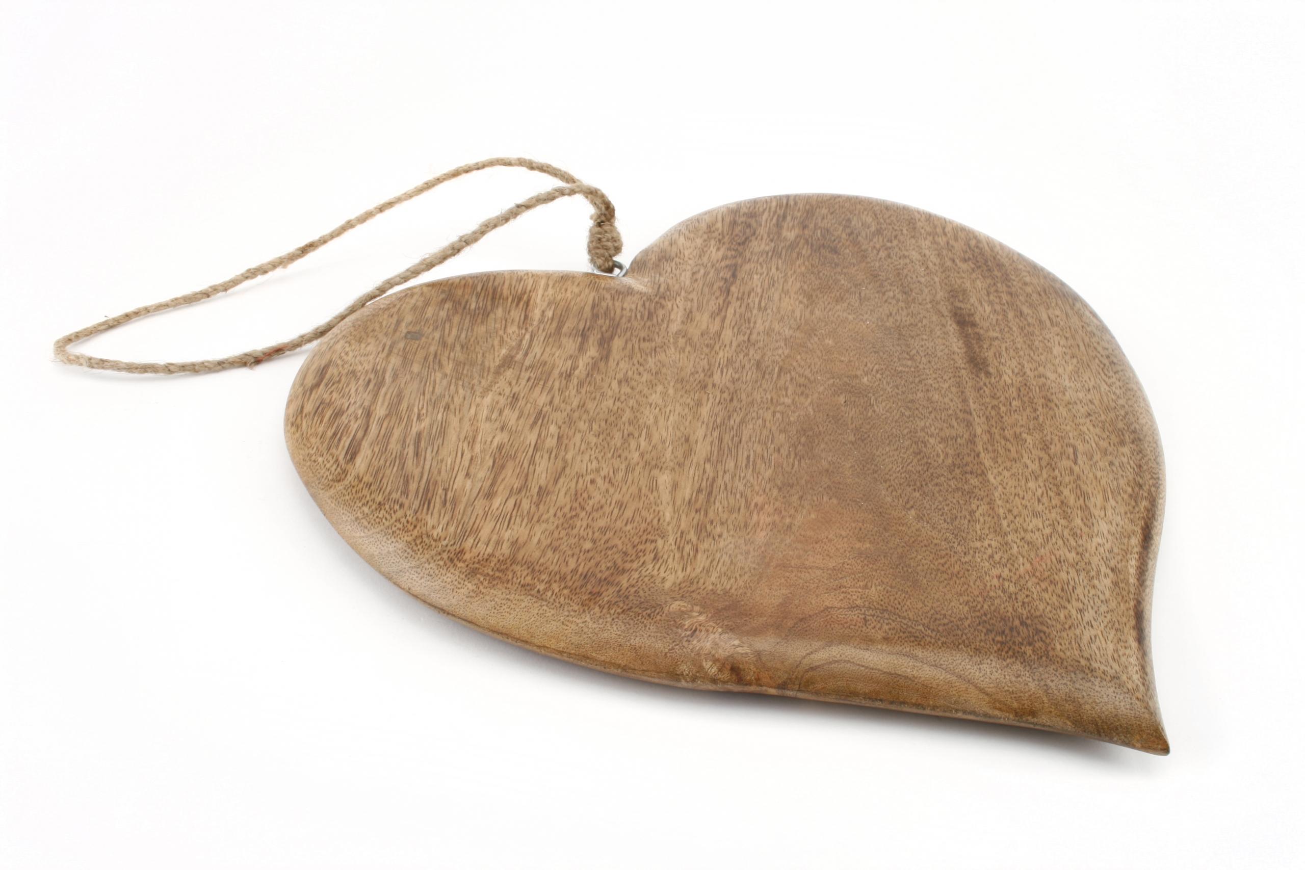 Wooden heart hanging chopping board