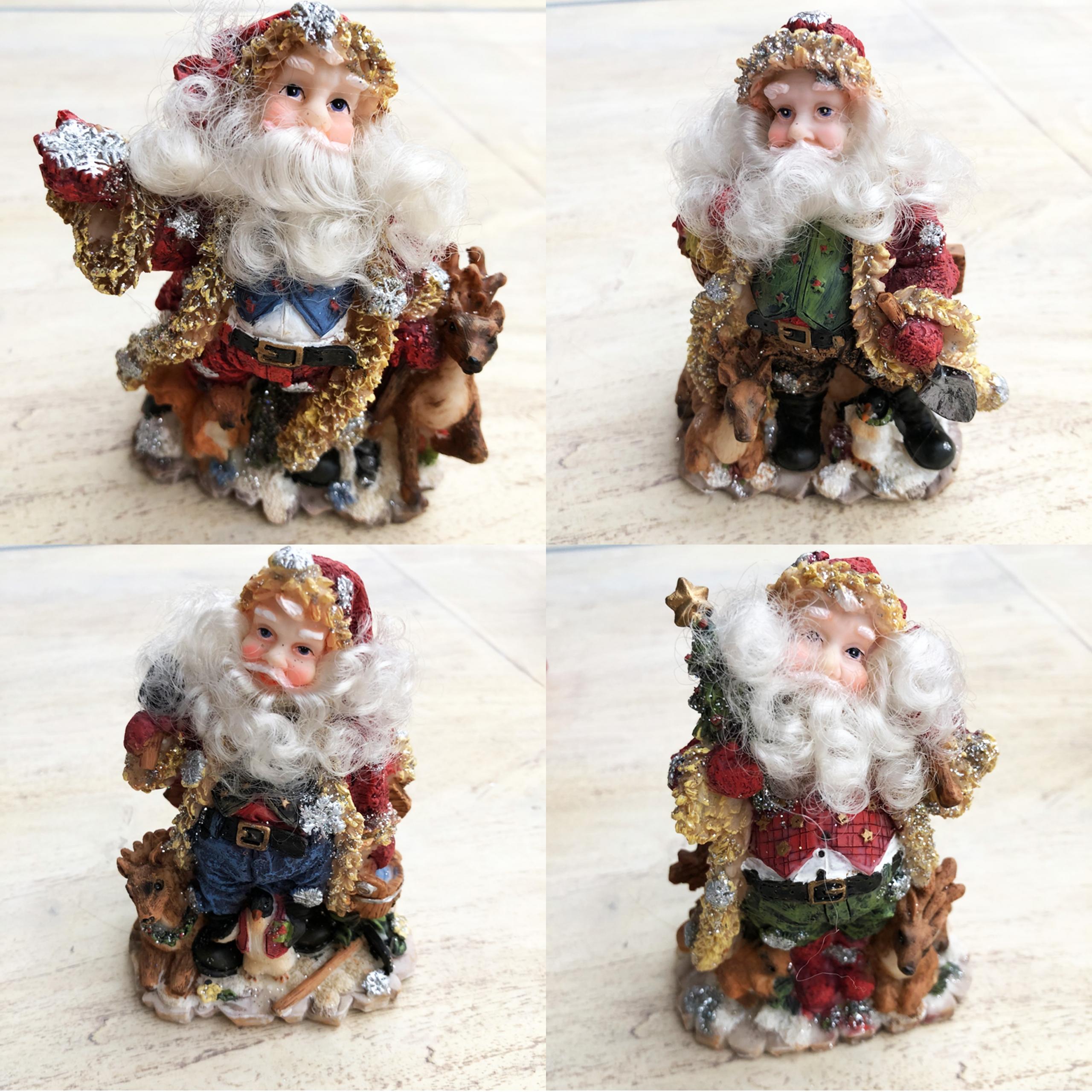 5 inch sparkly coat Santas