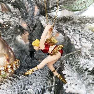 Christmas tree red ballerina decoration