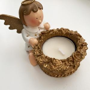 White angel t-light holder